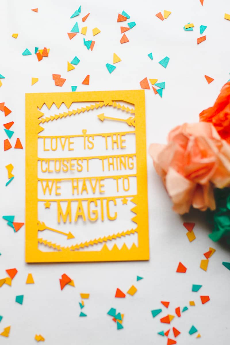 Cricut Place Setting Die Cut Love Quote-6