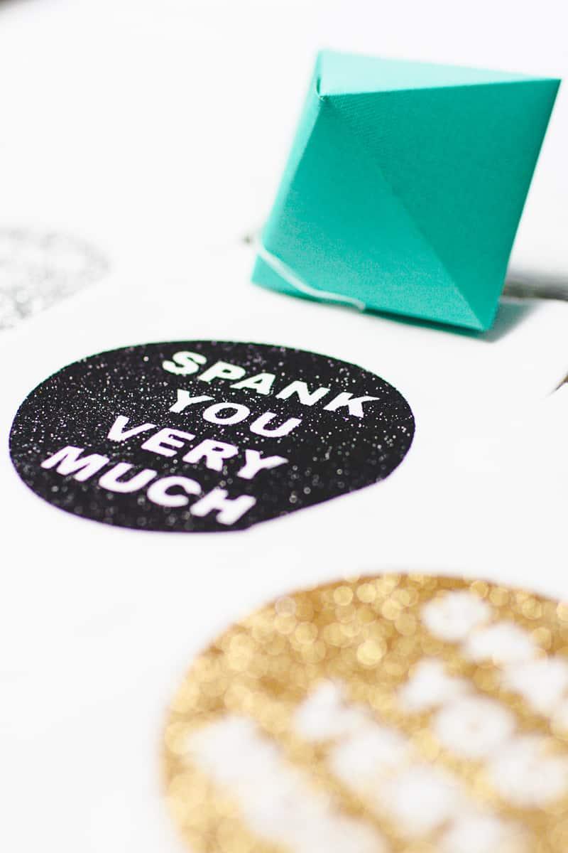 DIY Cricut Glitter Thank you Napkin Favours Place Setting-6