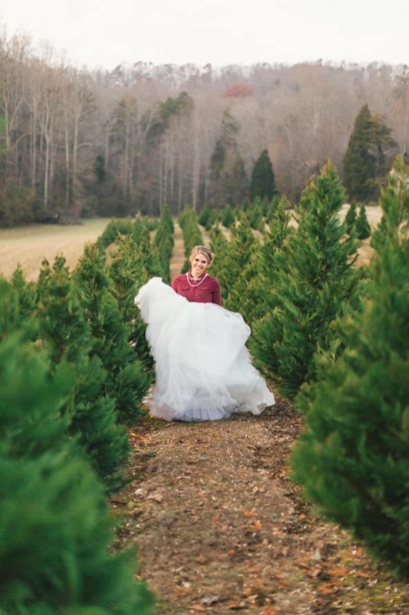 Festive Wedding Inspiration on a Christmas Tree Farm 17