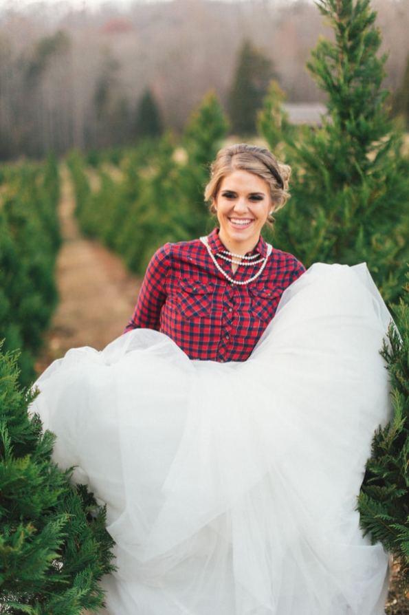 Festive Wedding Inspiration on a Christmas Tree Farm 18