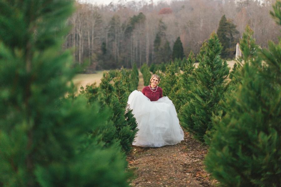 festive wedding inspiration on a christmas tree farm 19 - Bluebird Christmas Tree Farm