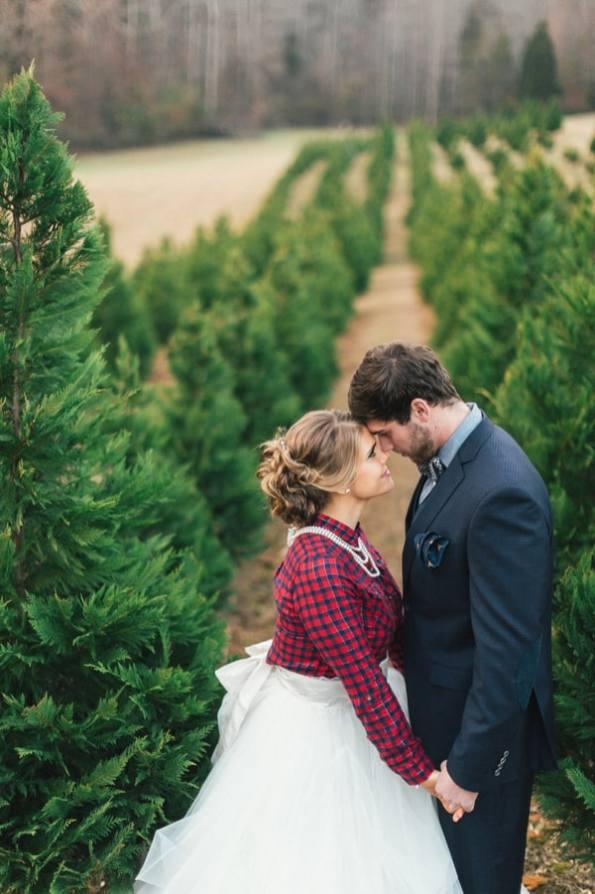 Festive Wedding Inspiration on a Christmas Tree Farm 22