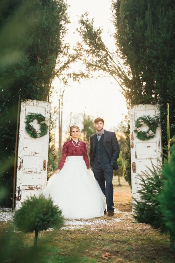 Festive Wedding Inspiration on a Christmas Tree Farm 4