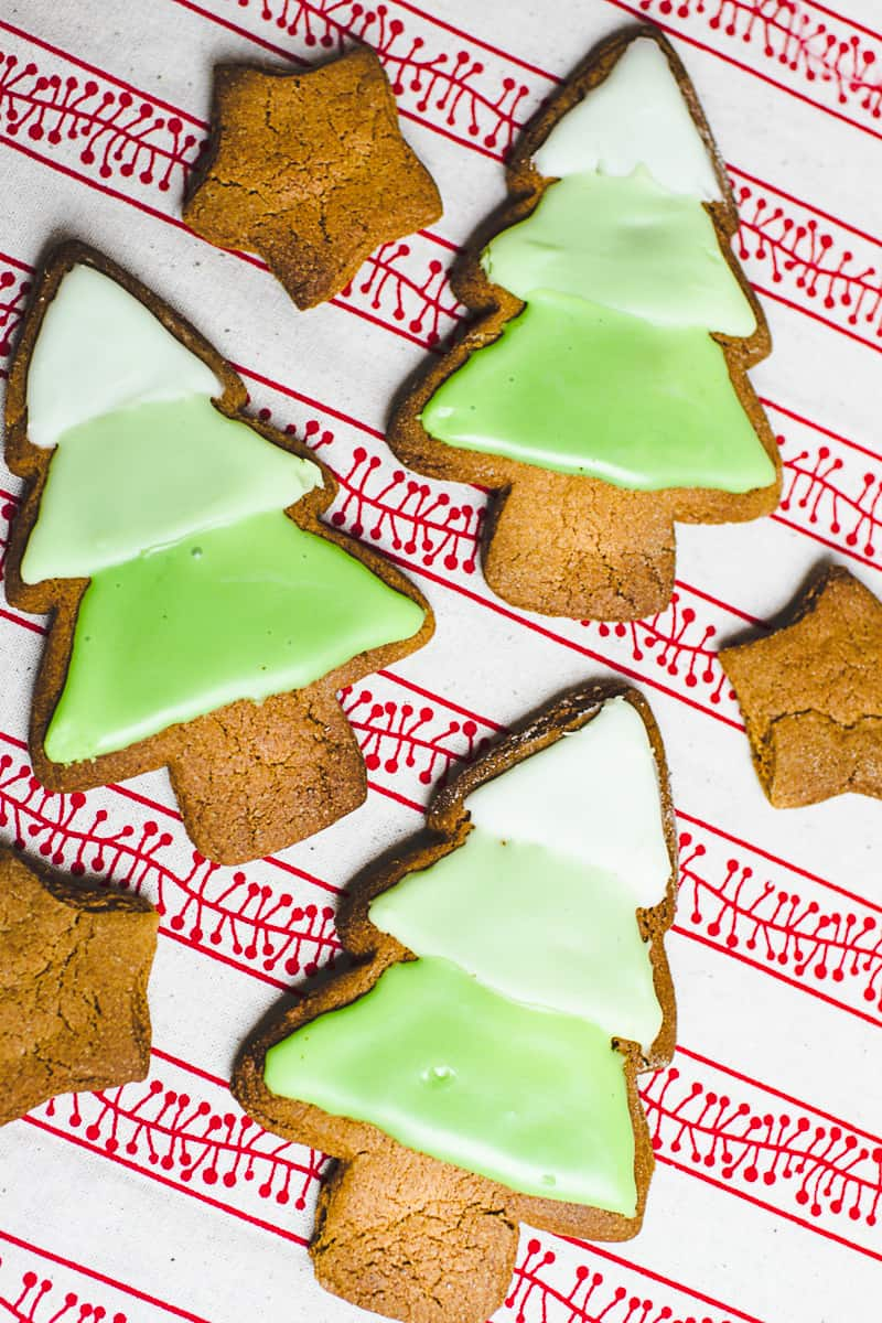 Ombre Iced Christmas Tree Cookies Festive Recipe Baking-3
