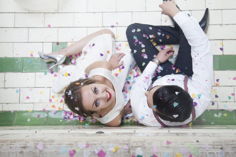 Quirky, Laid back styled wedding shoot at Victoria Baths Manchester (2)