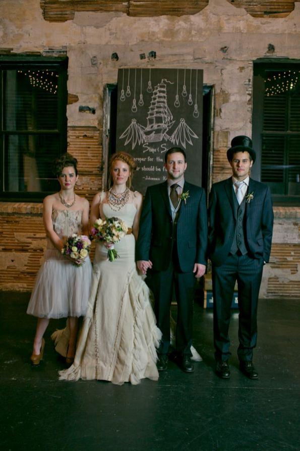 Steampunk Wedding Inspiration metals bride shoot 20