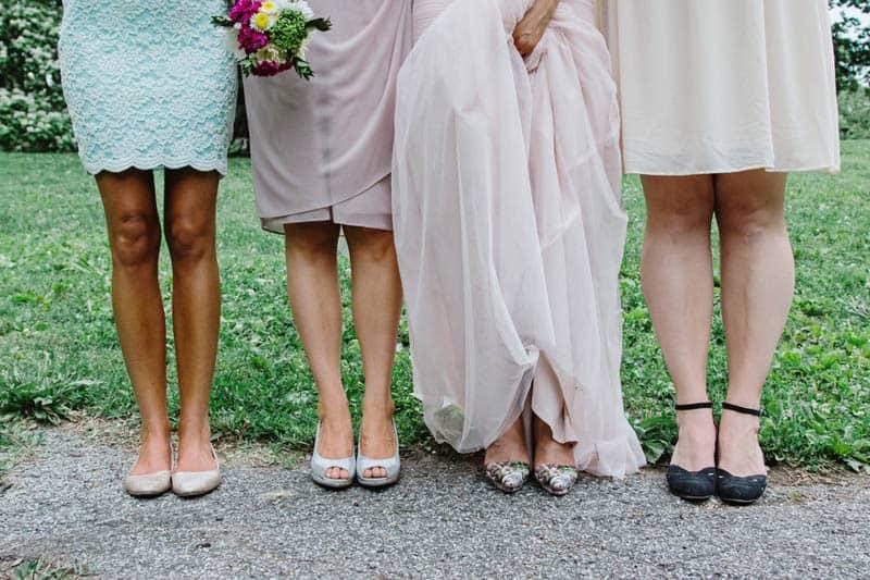 Close Knit Family & Friend DIY Wedding, Bride with Purple Petticoat (27)