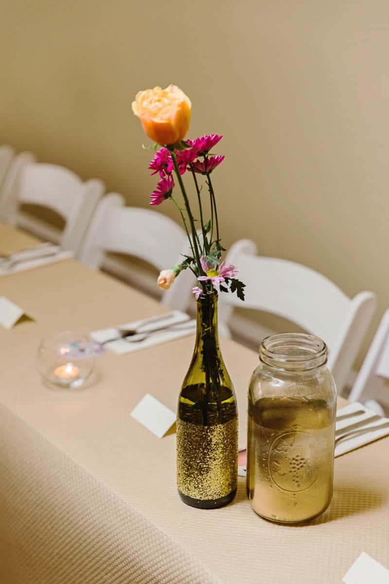 Close Knit Family & Friend DIY Wedding, Bride with Purple Petticoat (39)