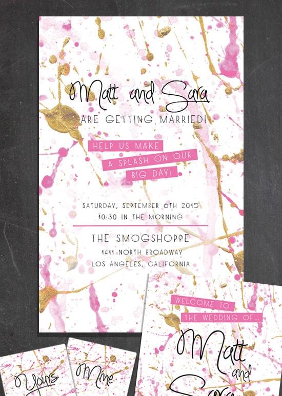 Splash Wedding Invitations