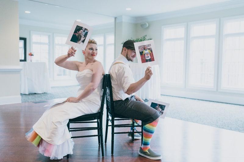 Rainbow themed wedding