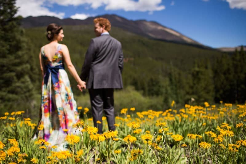A COLOURFUL FLORAL GOWN FOR A WEDDING IN THE ROCKIES (8)