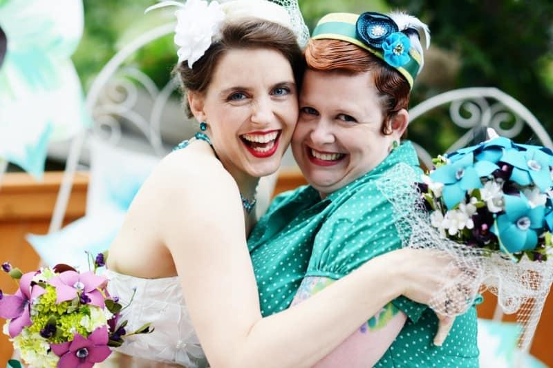 A Colourful Fun Vintage Italian Backyard Carnival Wedding (24)