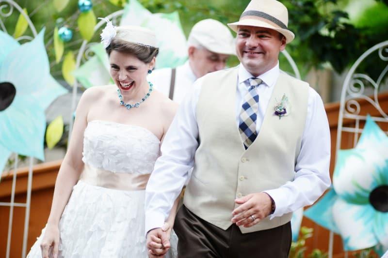 A Colourful Fun Vintage Italian Backyard Carnival Wedding (5)
