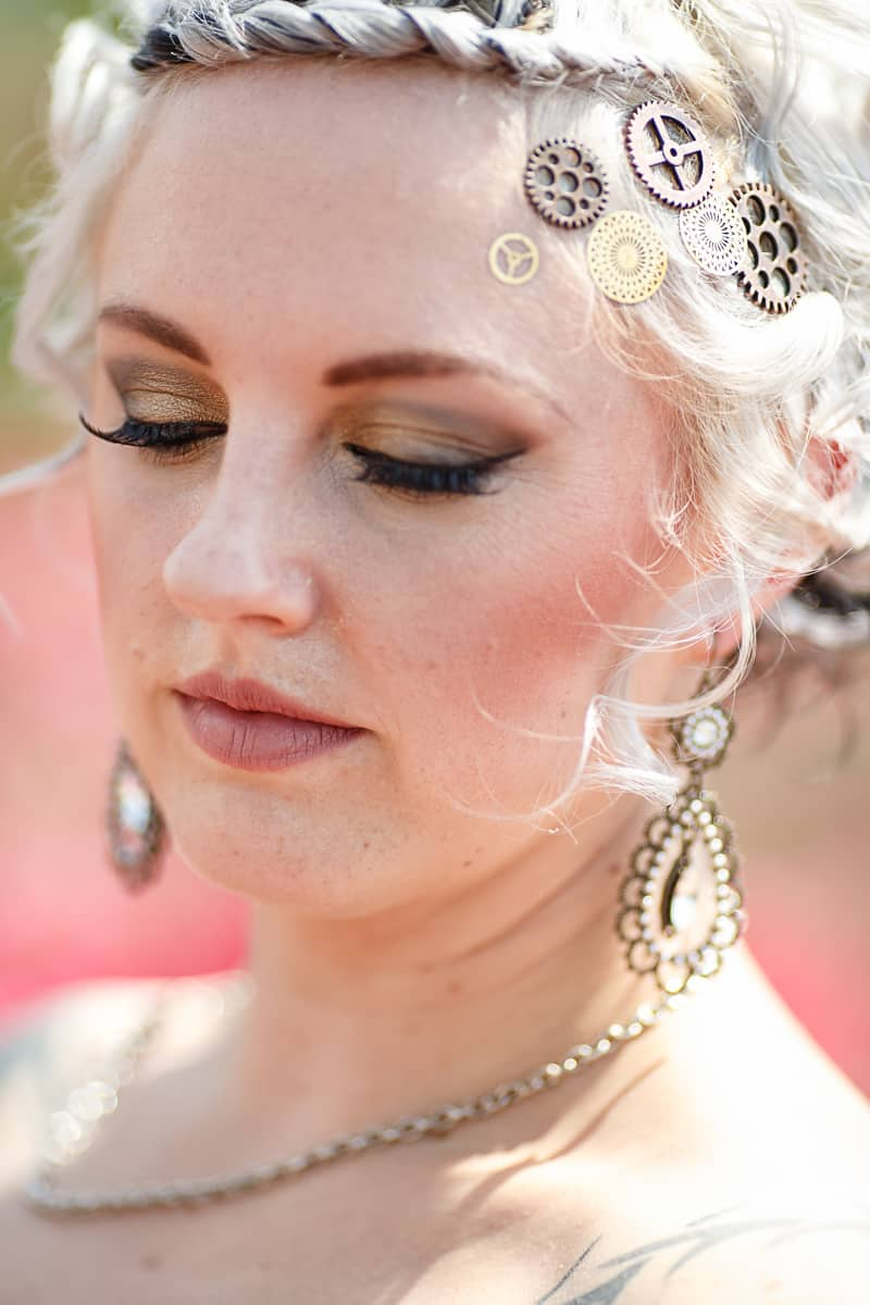 Steampunk Colourful Vibrant Colours Pink Wedding Inspiration-25