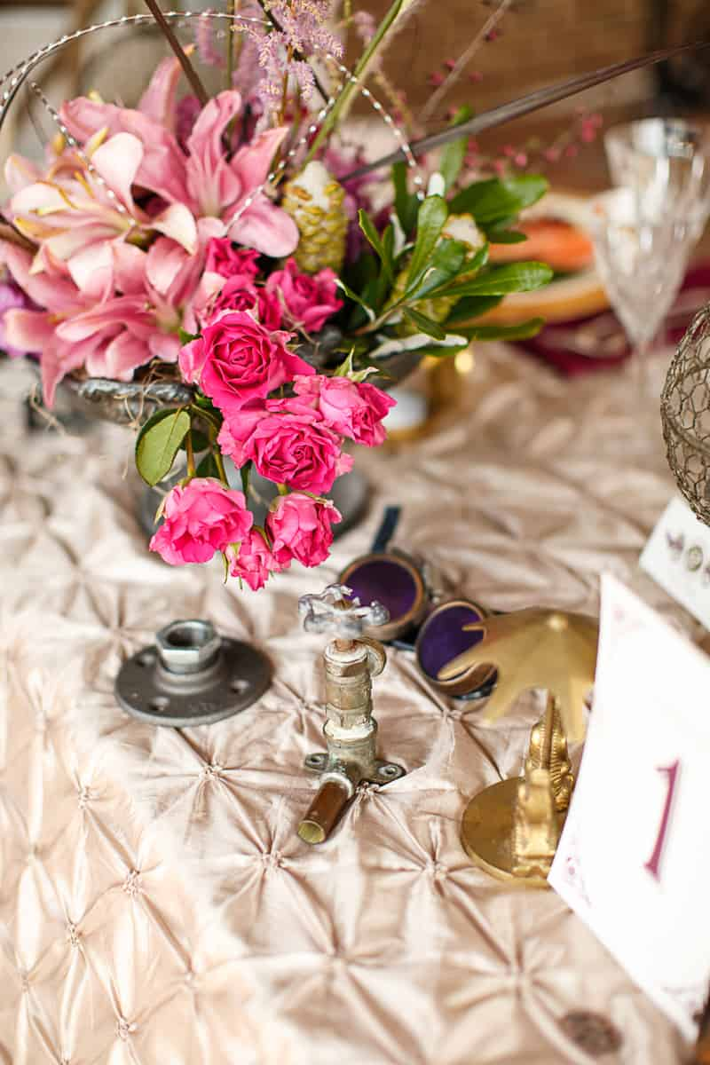 Steampunk Colourful Vibrant Colours Pink Wedding Inspiration-29
