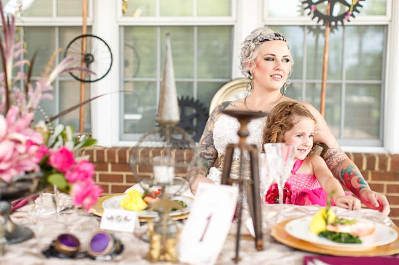 Steampunk Colourful Vibrant Colours Pink Wedding Inspiration-7