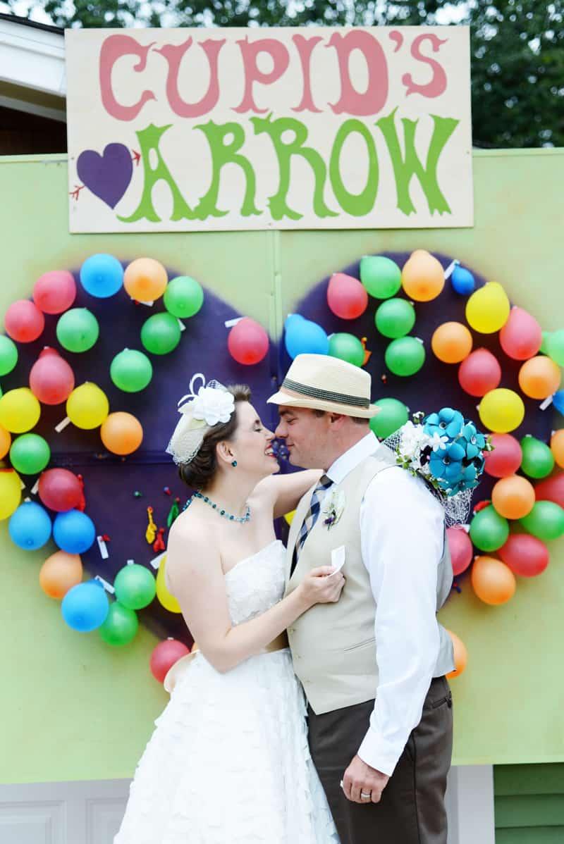 Carnival Wedding Balloon Heart Arch