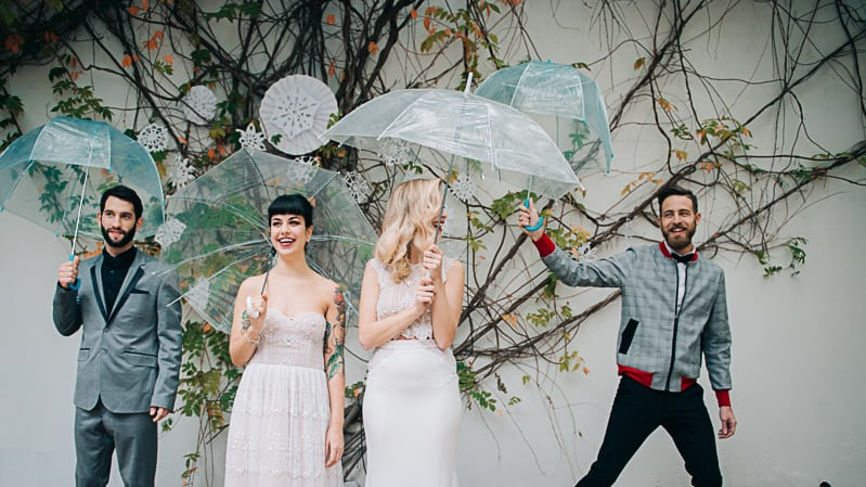 Winter Wedding Inspiration Style with Rockabilly Fashion from Zebra Music and Gold Antler Crowns Shoot-33