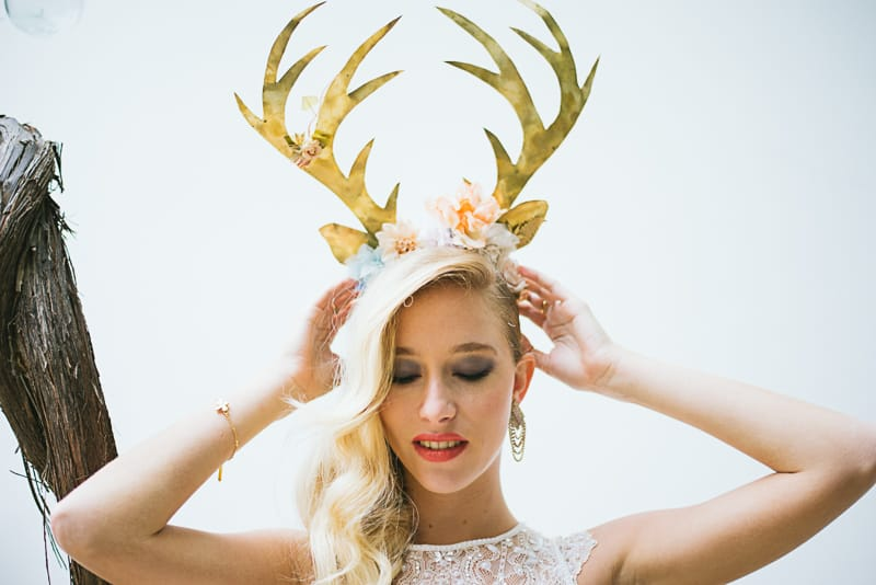 Winter Wedding Inspiration Style with Rockabilly Fashion from Zebra Music and Gold Antler Crowns Shoot-42