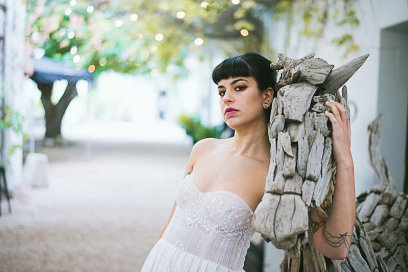Winter Wedding Inspiration Style with Rockabilly Fashion from Zebra Music and Gold Antler Crowns Shoot-51