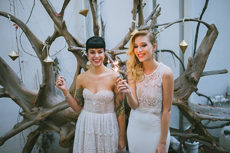 Winter Wedding Inspiration Style with Rockabilly Fashion from Zebra Music and Gold Antler Crowns Shoot-52