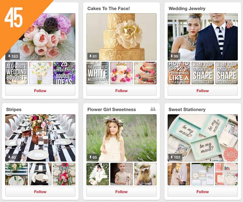 45 She Finds Weddings Pinterest Accounts to Follow