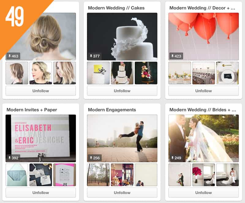 49 Modernly Wed Wedding Inspiration Pinterest Accounts Follow