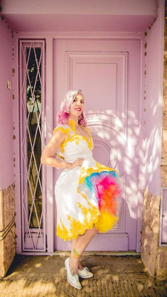 Rainbow-brazilian-wedding-rock n roll bride 1