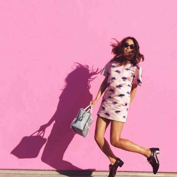 aimee_song_pink_dress_pink_wall_los_angeles
