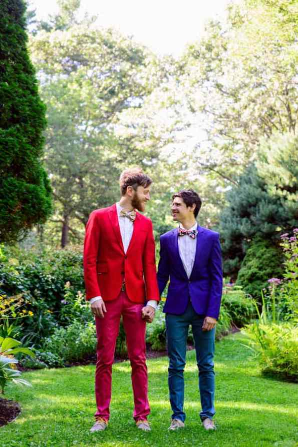 A SAME SEX COLOURFUL HANDMADE WEDDING AT A FOREST RETREAT IN Massachusetts (12)