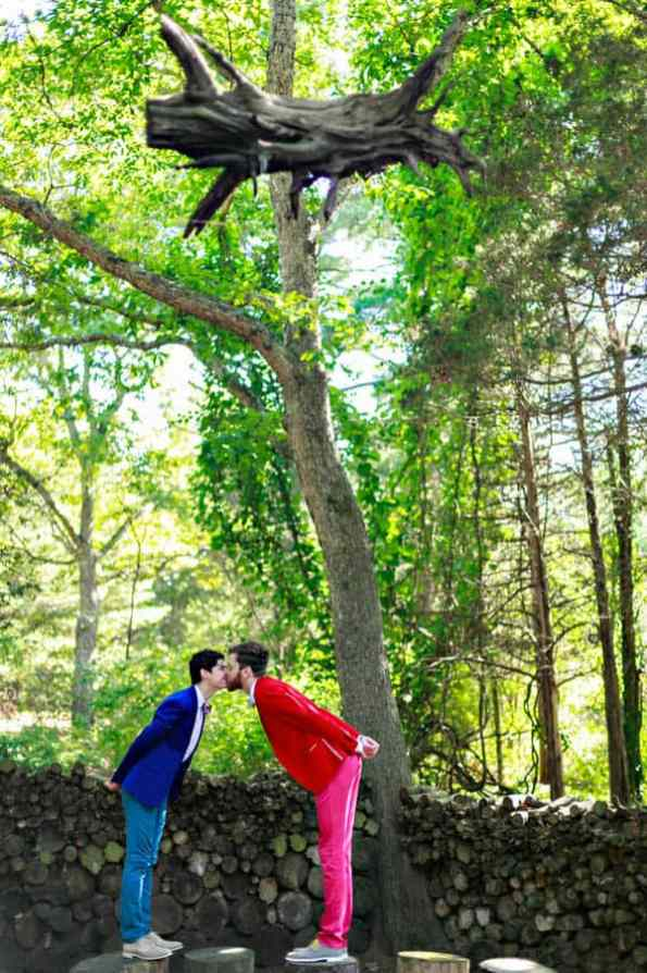 A SAME SEX COLOURFUL HANDMADE WEDDING AT A FOREST RETREAT IN Massachusetts (19)