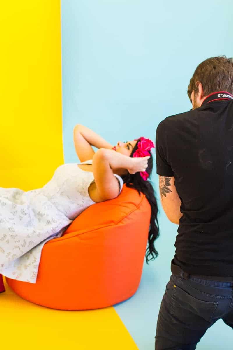 Behind The Scenes Bespoke Bride Media Kit Shoot Craig Dearsley-8