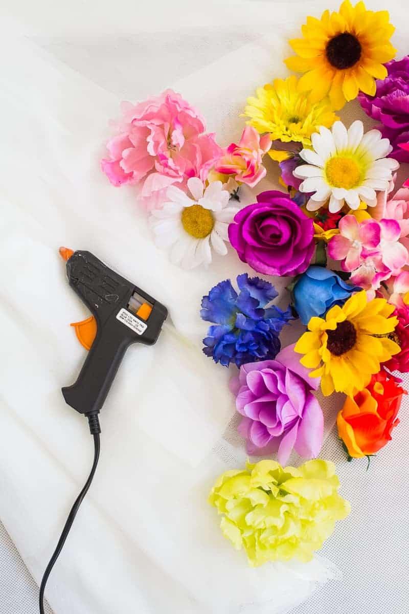 DIY Flower Tulle Skirt Tutorial Spring Summer Fashion Wedding do it yourself-1