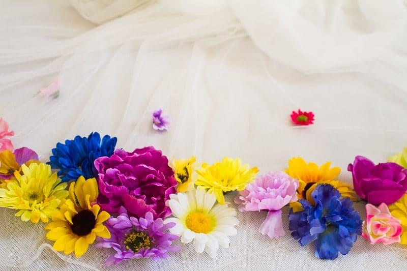 DIY Flower Tulle Skirt Tutorial Spring Summer Fashion Wedding do it yourself-5