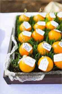 Orange seating plan fruit table