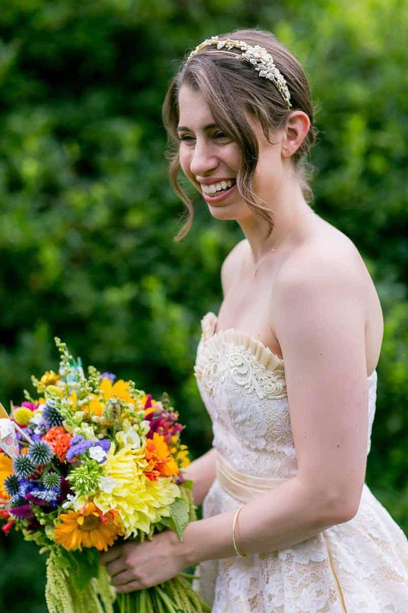 Pinwheel Themed Wedding with Colourful Sunflowers Backyard Inspiration-10