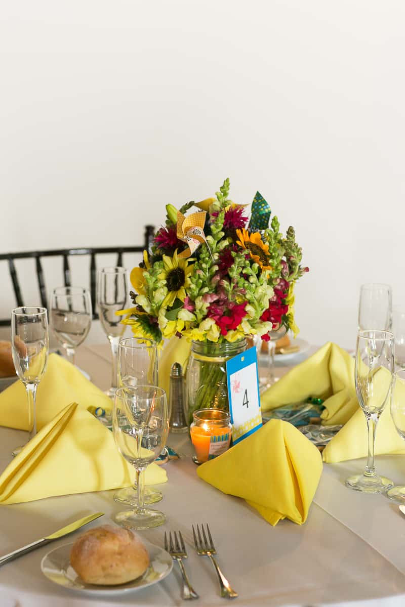 Pinwheel Themed Wedding with Colourful Sunflowers Backyard Inspiration-18