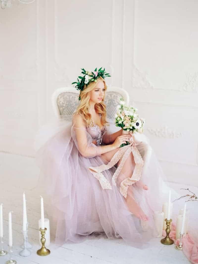 Soft Romantic Boudoir Shoot Session Bespoke Bride 32