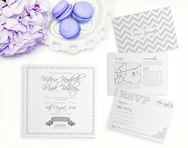 wedding stationery by LOVELI (1) Lavendar Crush