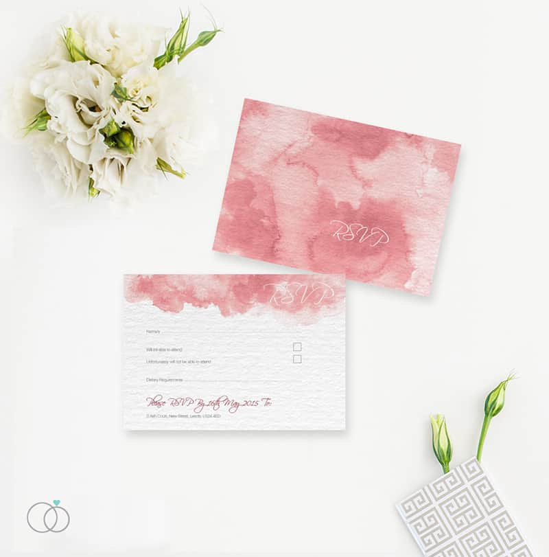 wedding stationery by LOVELI (11) Marsala Water Colour