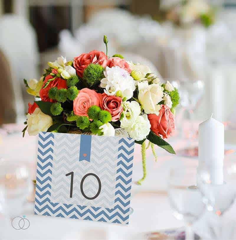 wedding stationery by LOVELI (5) Chevron Chic