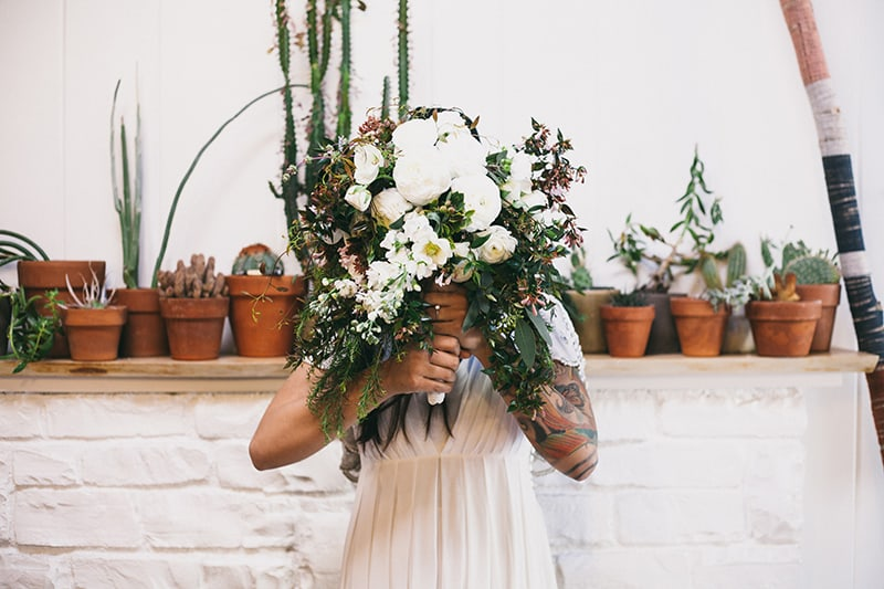 Bohemian Boho Wedding Inspiration Floppy Hat Bride Festival 26
