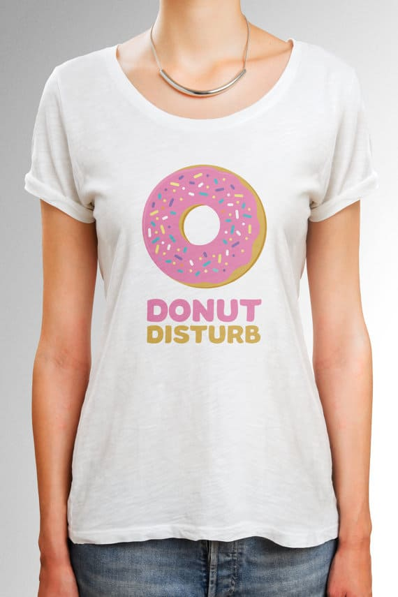 Donut disturb T shirt