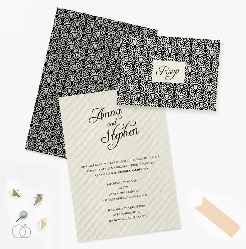 LOVELI GATSBY COLLECTION WEDDING STATIONERY VINTAGE (2)