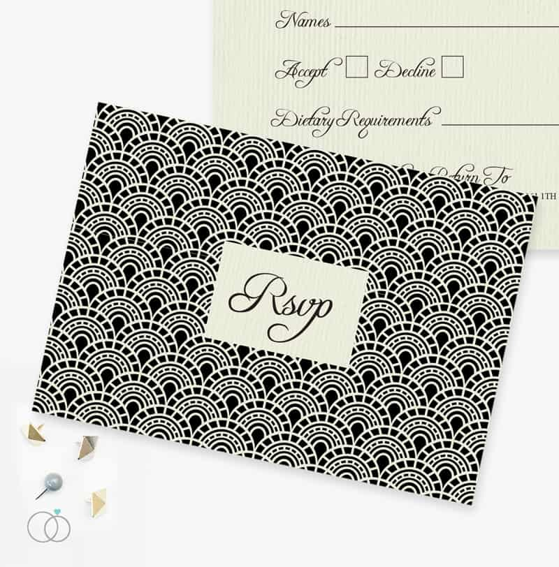 LOVELI GATSBY COLLECTION WEDDING STATIONERY VINTAGE (3)