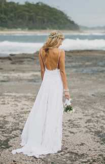 Low Back Lace Wedding Festival Dress