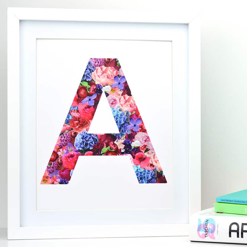 Inital Floral Print available from The Letter Loft
