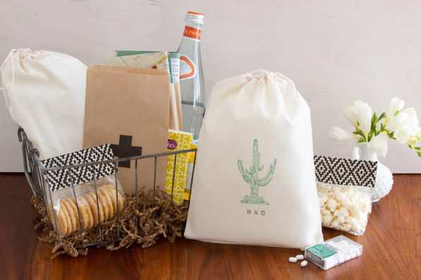Cactus Welcome Bag Favor