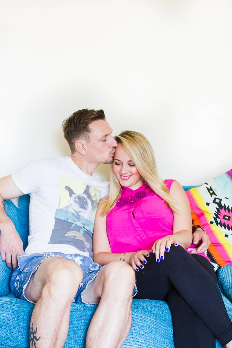 Emily & Matt's big news colourful engagement announcement shoot-1