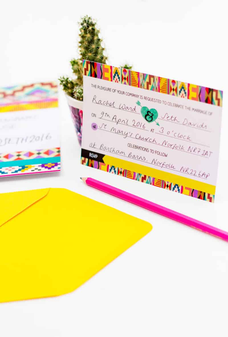 Free Aztec festival free Printable wedding invitation & Hashtag Instagram Poster (5)